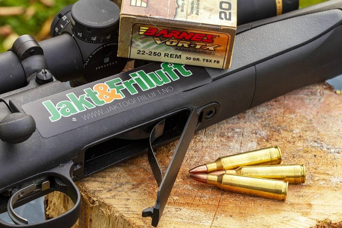 Mates fra bunn: 700 SPS Varmint har hengslet magasin med plass til fem skudd.