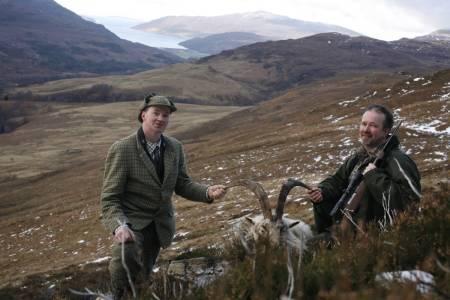 billygoat, jaktreise Skottland, jakte fjellgeit i Skottland