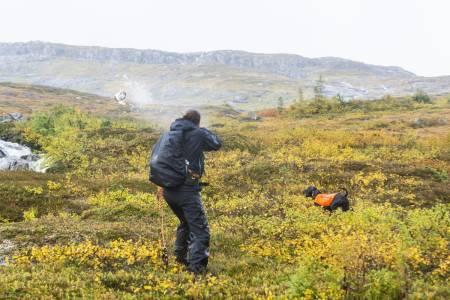 Rypejakt i Namdalen, rypejakt i regnvær,
