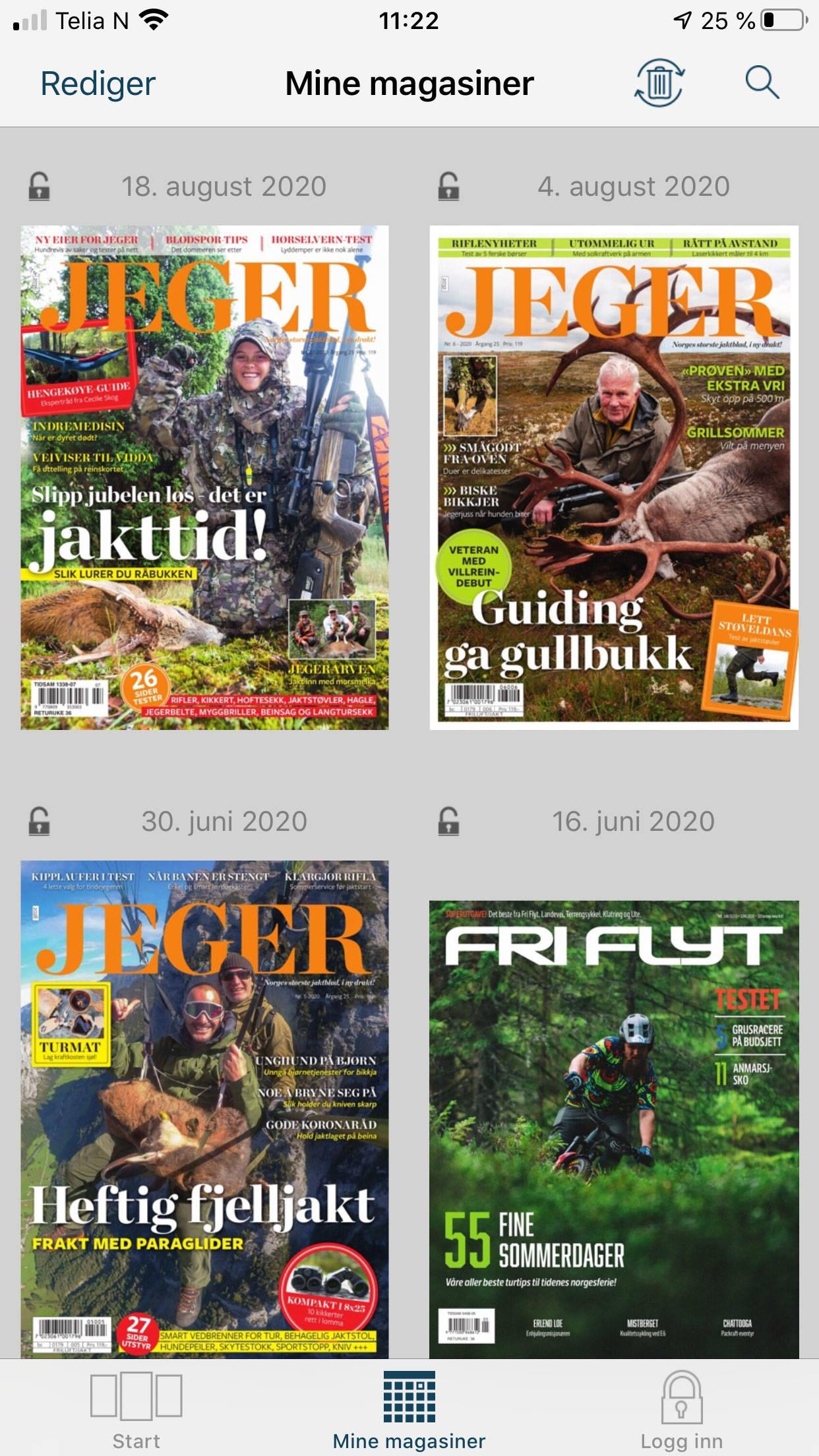 JEGER cover emagasin app