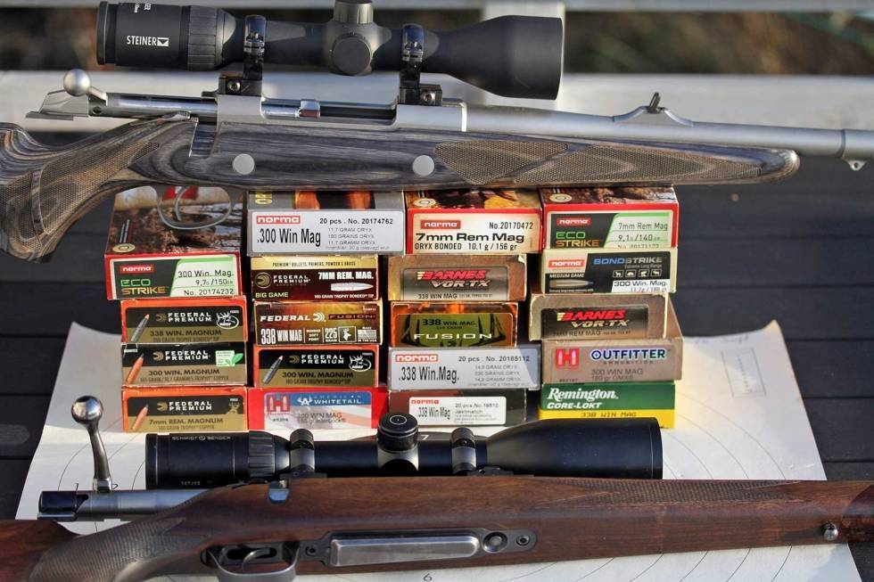 Duger i massevis: Magnumkalibrene sørger for at elg og annet stort vilt velter.