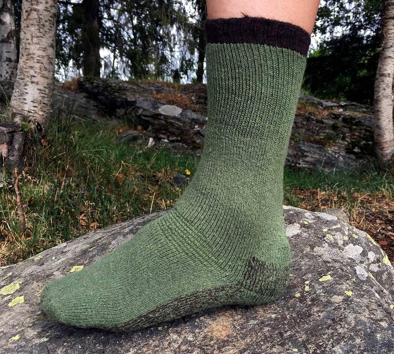 Grei miks: Disse sokkene er av en materialmiks som funker mesteparten av året.