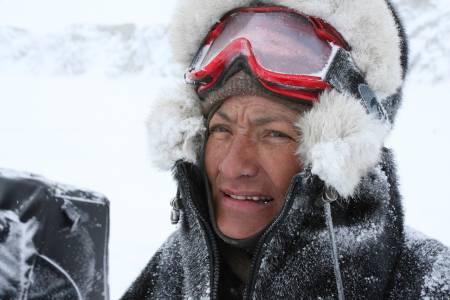 Johanne Bech, jaktreise Grønland, guide på moskusjakt