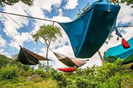 Hengekøyer, hengekøye, sove under åpen himmel