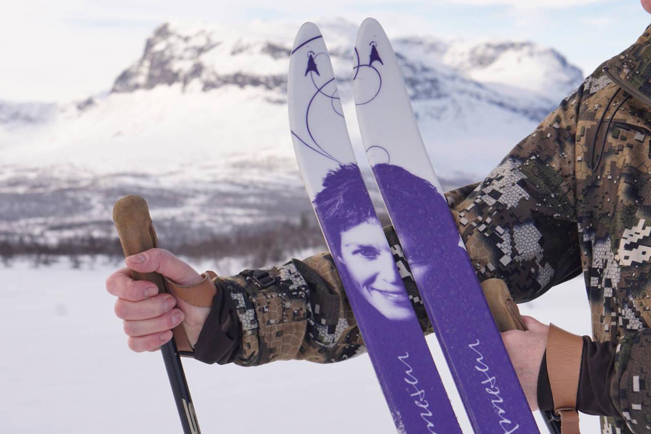 TRYGT FØLGE: Liv Arnesen sin signaturmodell fra Åsnes byr på trygt følge i vinterfjellet.