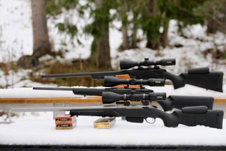 Gode alternativ: Alle de tre versjonene av Tikka T3X som vi testet, framstår som attraktive riflekjøp.
