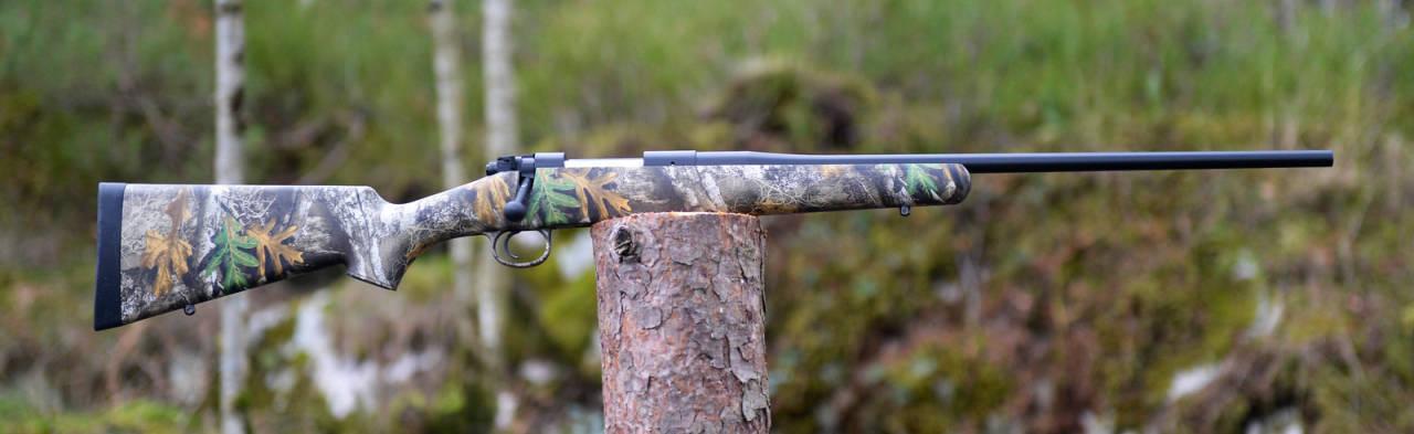 Usynlig rifle: Meningene er sikkert delte om behovet for et våpen i realtree-kamo.