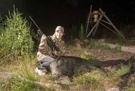 Familiefere og jakt, villsvinjakt i Sverige